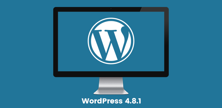 WordPress 4.8.1 maintenance release