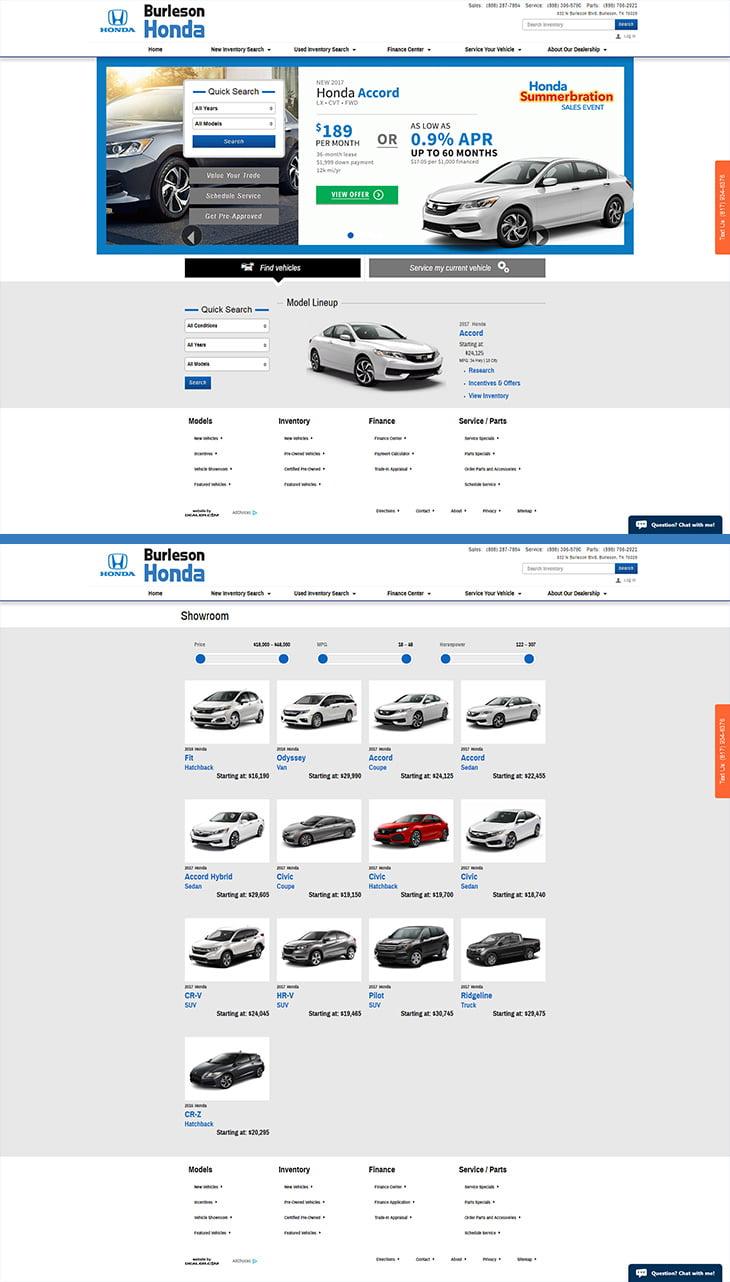 Honda of Burleson Portfolio