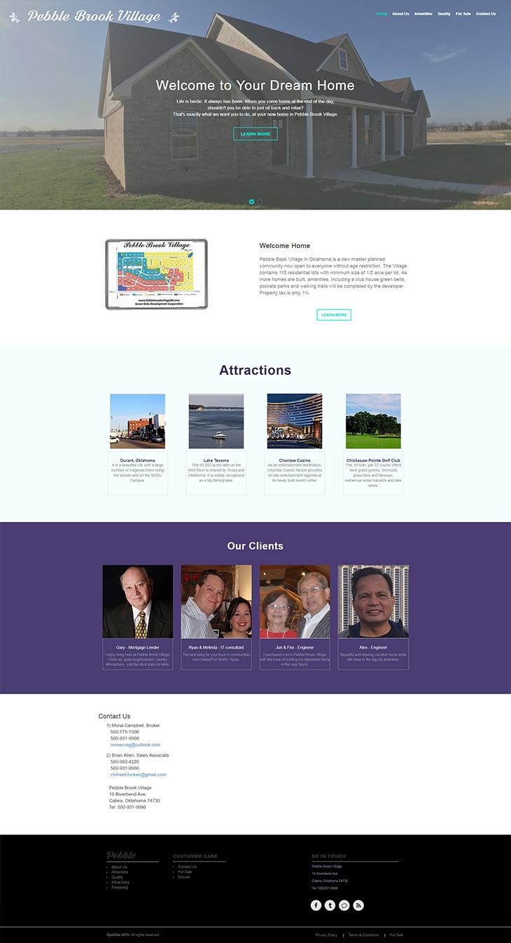 Pebble Brook Village Portfolio – WordPress