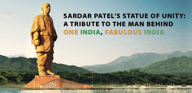 World's tallest 182 meter tall sardar patel statue of unity