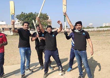 Cricket winning moment of Atlas members
